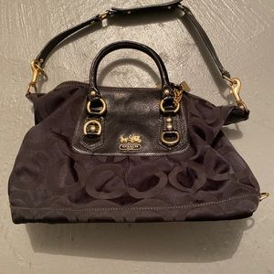 Coach Madison Sabrina Op Art Handbag Satchel 12943
